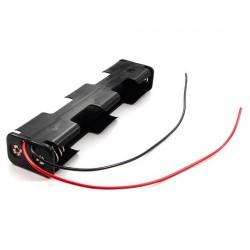 Suporte Pilhas AA X 4 (1/1+1/1) C/ Fios 150mm