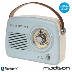 Rádio Portátil FM BT/AUX/MP3 Bateria 30W Vintage - Madison