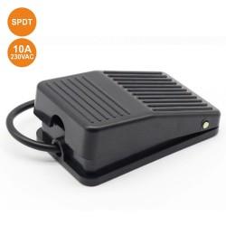 Interruptor Pé 10a 250v SPDT C/ 1 Posição Preto