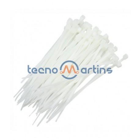Abraçadeira de Fivela Branca - 100x2.5mm