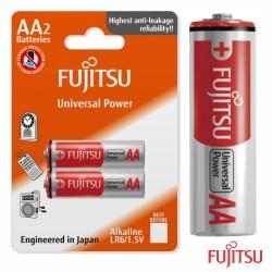 Pilha Alcalina Aa Lr6 1.5v 2x Blister - Fujitsu