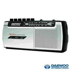 Rádio Portátil AM/FM com Gravador Cassetes - Daewoo