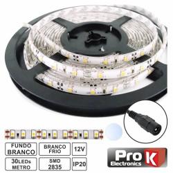 Fita 150 LEDs 2835 Branco Frio 12V 5M - Prok