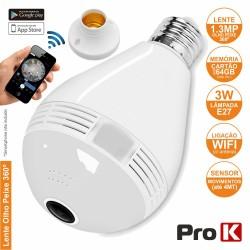 Lâmpada LED E27 C/ Câmara Ip Incorporada Wifi Prok