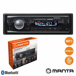 Auto-Rádio Mp3 Wma 45Wx4 C/ Fm/pll/mmc/sd/usb Bluetooth - Manta