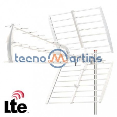 Antena Tdt Exterior Uhf 43 Elementos 18Db Filtro - LTE