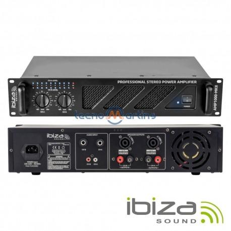 """Amplificador Áudio 19"""" 2X800W Preto - Ibiza"""