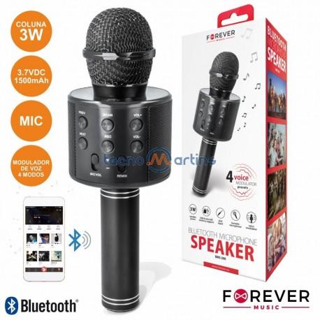 Microfone C/ Coluna 3W Bluetooth Usb/sd Bateria - FOREVER