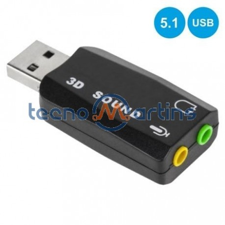 Placa Som USB 7.1 C/ 2 Fichas Jack - Prok
