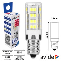 Lâmpada LED E14 4.5w 6400k 420Lm - Avide