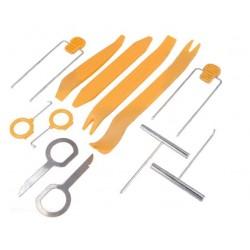 Conjunto de ferramentas extractoras de auto-rádio - 12 peças