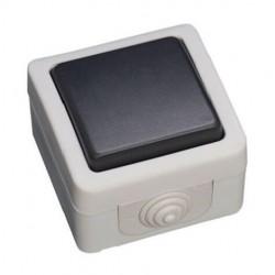 Comutador de Escada Estanque 10A 250V IP54 - Cinzento - GSC