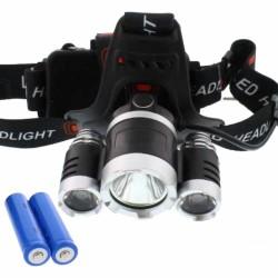 Lanterna De Cabeça 3Leds 350lm T6 + R5 - Well