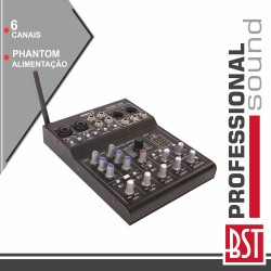 Mesa Mistura 6 Canais Efeitos Phanton Dsp USB/BT - BST