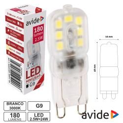 Lampada Led G9 2.5w 3000k 180lm 230v - Avide