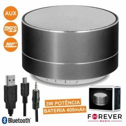 Coluna Bluetooth Portátil 3w Usb/Micro SD/FM/Bat Preta - Forever