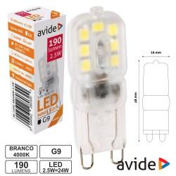 Lampada Led G9 230v 2.5w 4000K 190lm - Avide