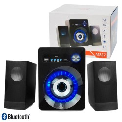 Colunas P/Pc 2.1 Bluetooth Usb/Sd/Aux/Fm