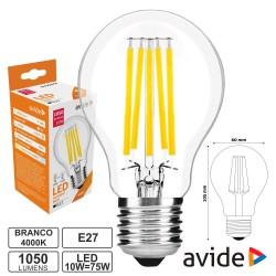 Lâmpada LED Filamento E27 9w Globo 4000k 1070lm - Avide