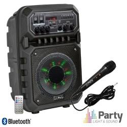 "Coluna Amplificada 6"" 200w USB/SD/FM/BT/BAT Preta - PARTY"