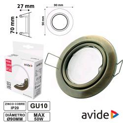 Aro Ajustável Redondo P/ Lampadas Gu10/Mr16 Cobre - Avide