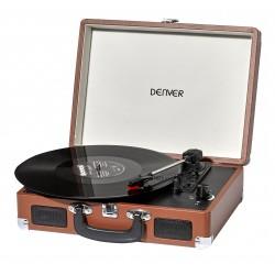 Gira-Discos 33/45/78Rpm Vintage 2xX1W Castanho - Denver