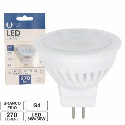 Lampada Led G4 MR11 220v 3w 6000k 270lm Bf