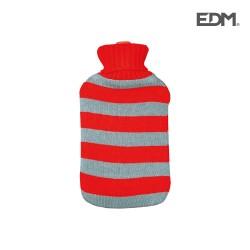 Botija Água Quente 2L Riscas Vermelhas - EDM