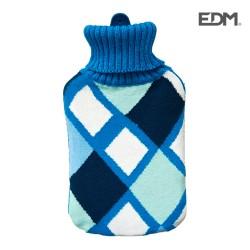 Botija Água Quente 2L Quadrados Azuis - EDM
