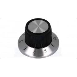 Botão de precisão para potenciómetro com calibração 1-10 Ø15.2x14.2mm
