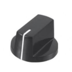 Botão de precisão para potenciómetro com traço indicador branco Ø26x15.4mm