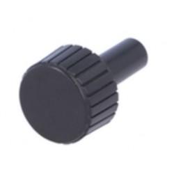 Botão de precisão para potenciómetro sem indicador Ø22x12mm preto