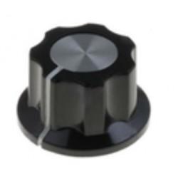 Botão de precisão para potenciómetro com traço indicador Ø15.7x11.5mm cinzento