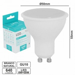 Lampada Led Gu10 8w/50w 640lm Bn