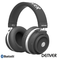 Auscultadores BLUETOOTH S/ Fios Stereo AUX / MIC Preto - Denver