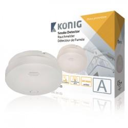 Detector Fumos Óptico C/ Alarme - Konig