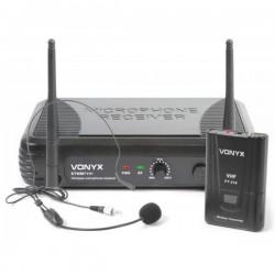 Vonyx Central Microfone Vhf S/ Fios C/ Microfone Cabeça