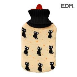Botija de Agua Quente C/ Gatos Negros 2L - EDM