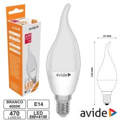 Lâmpada LED E14 Chama 6W 230V 4000k 470lm - Avide