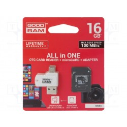 Goodram 16GB MicroSD C/ Adaptadores SD e PEN USB/OTG