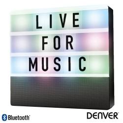 Coluna Bluetooth Portátil C/ Placa Mensagens Bat LED - DENVER