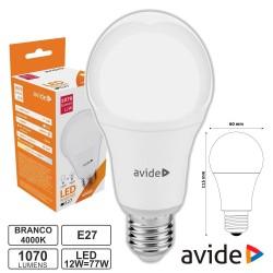 Lâmpada LED E27 Globo G60 12W 230V 4000k 1070lm - Avide