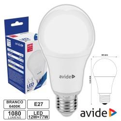 Lampada LED E27 Globo C60 12W 6400K - Avide