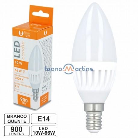 Lâmpada LED E14 Vela C37 10W 230V 3000k 900lm