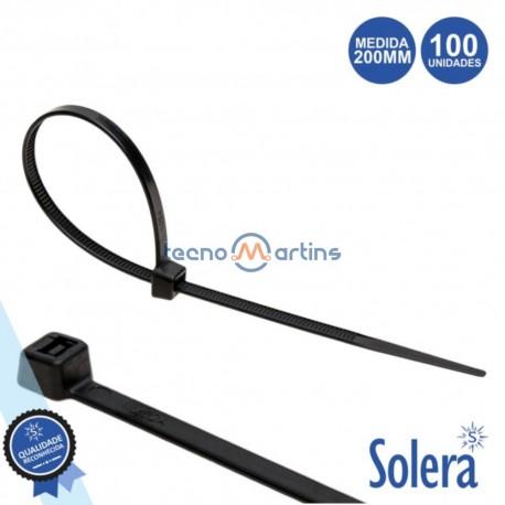 Conjunto 100 Braçadeiras Nylon 4.8x200mm - SOLERA