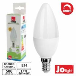 Lâmpada E14 5W 230V Dimável LED Vela 4000k 500lm - JOlight