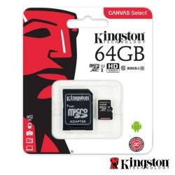 Cartão de Memória Micro SDxc 64GB UHS-I C/ Adaptador - Kingston