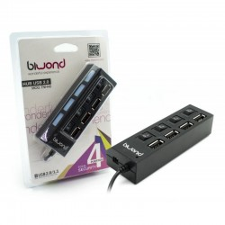 HUB USB 4 Portas Com Interruptores ON-OFF TNH40 - Biwond