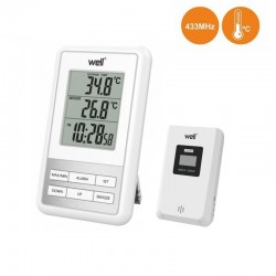Termómetro Digital Interior/Exterior Relógio C/ Alarme