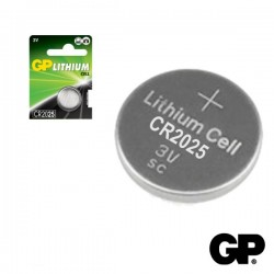 Pilha Lithium Botão Cr2025 3V 170Ma 5X Blister Gp